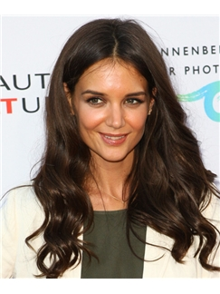 20 Inch Wavy Sepia Katie Holmes Full Lace 100% Human Wigs