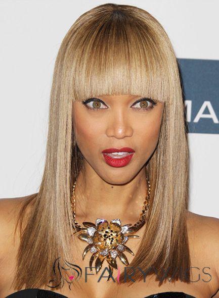 18 Inch Straight Tyra Capless Human Wigs