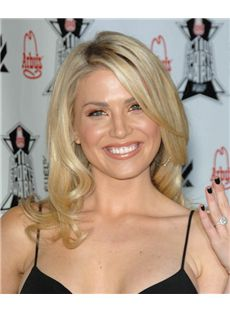 16 Inch Wavy Blonde Willa Ford Lace Front 100% Human Wigs