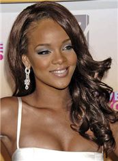 20 Inch Wavy Rihanna Full Lace 100% Human Wigs