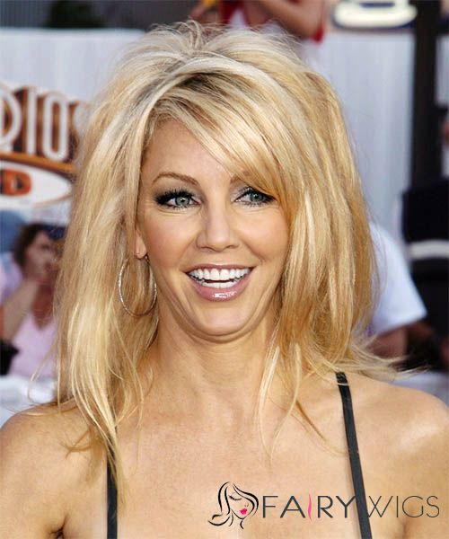 Inch Straight Heather Locklear Lace Front Human Wigs