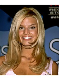 18 Inch Wavy Jessica Simpson Lace Front Human Wigs