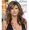 16 Inch Wavy Daisy Fuentes Human Hair Lace Front Wigs