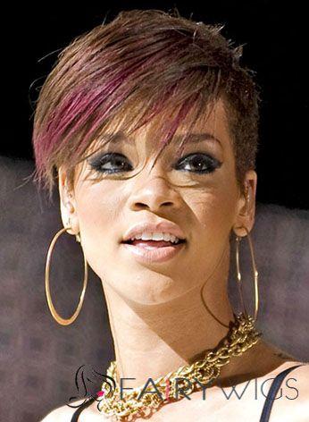 6 Inch Straight Rihanna Full Lace 100% Human Wigs