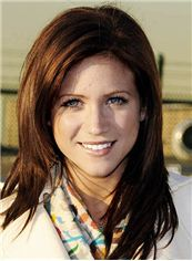 16 Inch Straight Brittany Snow Lace Front Human Wigs