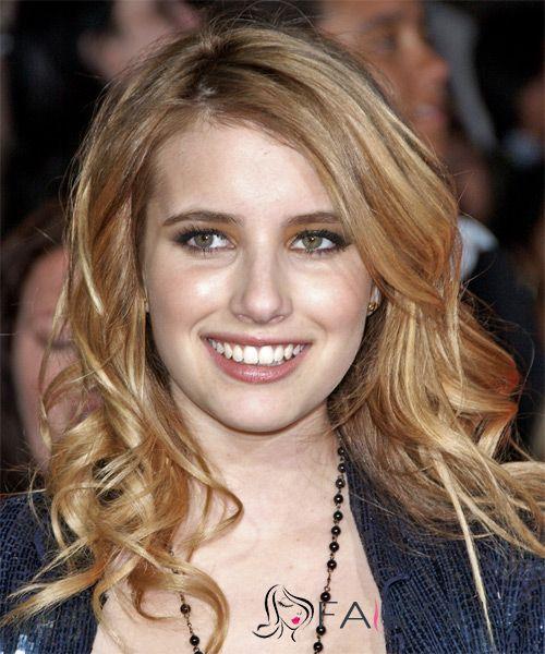 16 Inch Wavy Blonde Emma Roberts Full Lace 100% Human Wigs