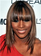 16 Inch Straight Serena Williams Capless Human Wigs