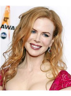 18 Inch Wavy Nicole Kidman Lace Front Human Wigs