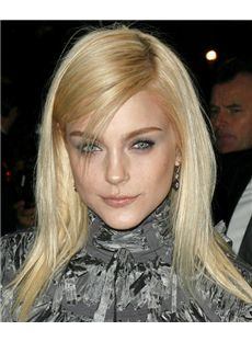 16 Inch Straight Jessica Stam Full Lace 100% Human Wigs