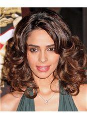 14 Inch Wavy Milika Sherawat Full Lace 100% Human Wigs