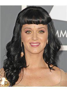 18 Inch Wavy Katy Perry Capless Human Wigs