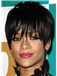 8 Inch Straight Rihanna Capless Human Wigs