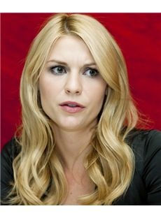 18 Inch Wavy Claire Danes Full Lace 100% Human Wigs