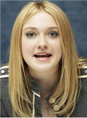 16 Inch Straight Dakota Fanning Lace Front Human Wigs