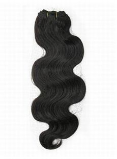 Cheap 12'-30' Lovely Wavy Human Hair Weave Off Black