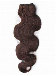 Good-Looking 12'-30' Wavy Chocolate Brown Human Hair Weave