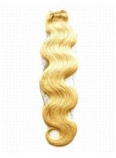 Pretty 12'-30' Cheap Wavy Sandy Blonde Human Hair Weave