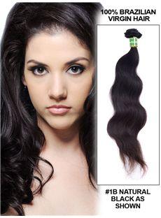 Cheap 12'-30' Body Wave Brazilian Virgin Hair Extension Weft - Natural Black