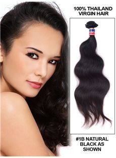 12'-30' Body Wave Thailand Virgin Hair Extension Weft - Natural Black