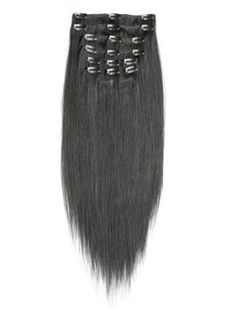 12'-30' Jet Black Thick Hair Clip In Beautiful