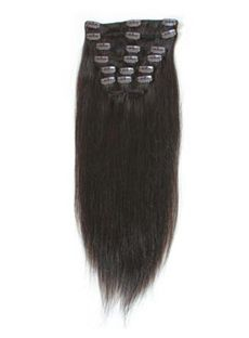 12'-30' Charming Thick Clip In Hair Off Black