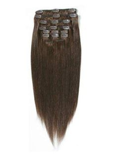 Dazzling 12'-30' Clip In Thick Hair Extensions Chocolate Brown
