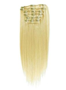 Hot 12'-30' Blonde Long Hair Extensions Clip On