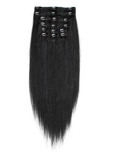 12'-30' Fashion Jet Black Clip In Hair Extensions Cheap