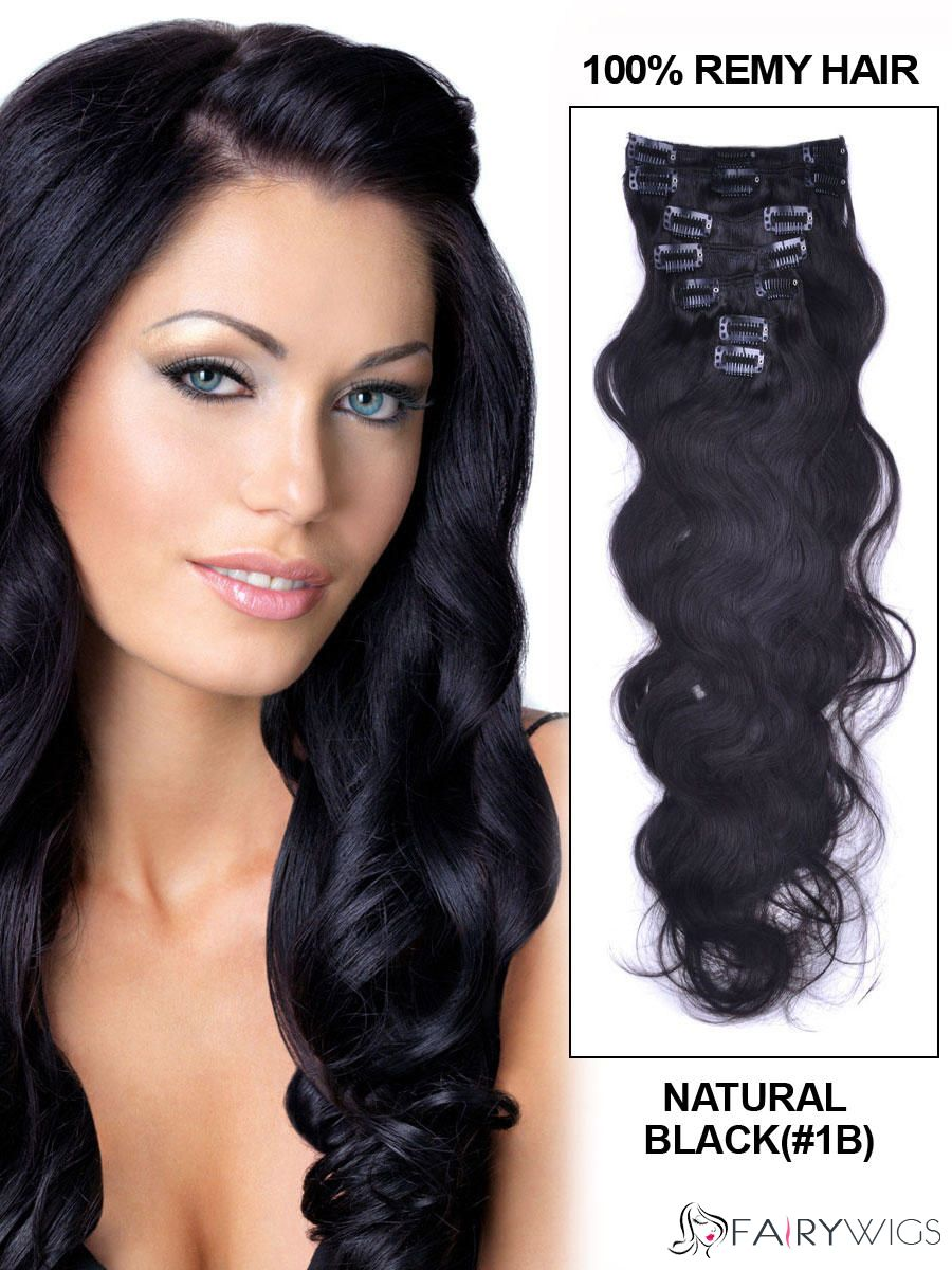 Sexy Natural Black Clip In Indian Remy Human Hair Extension