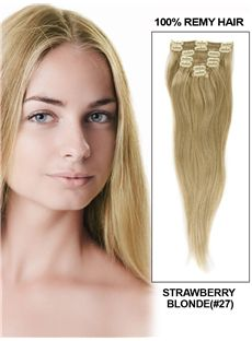 Strawberry Blonde Clip In Indian Remy Human Hair Extension