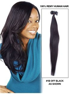12-30 100 Strands Straight Nail/U Tip Brazilian Remy Hair Extensions