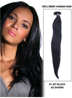 12'-30' 100 Strands Straight Nail/U Tip Brazilian Remy Hair Extensions