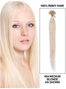 22 100 Strands Silky Straight Nail/U Tip Indian Remy Hair Extension