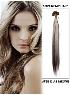 12'-30' 100 Strands Silky Straight Nail/U Tip Indian Remy Hair Extension
