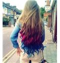 30 Inch Wavy Human Hair Ombre Wigs
