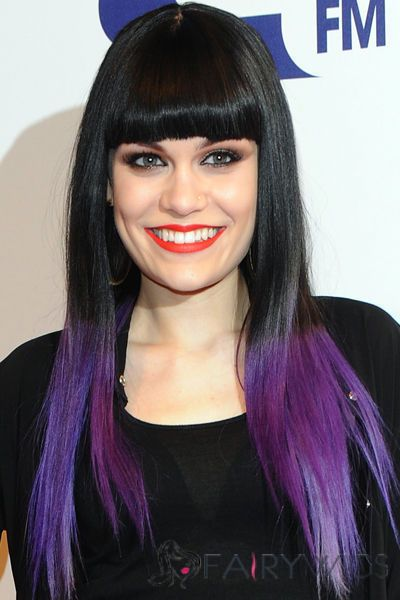 22 inch straight black to purple human hair ombre wigs. Black Bedroom Furniture Sets. Home Design Ideas