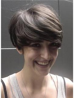 8 Inch Straight Sepia Capless Human Hair