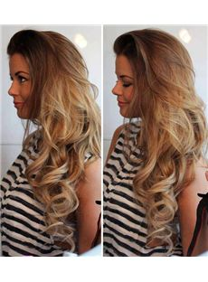 26 Inch Wavy Blonde Lace Front Human Hair