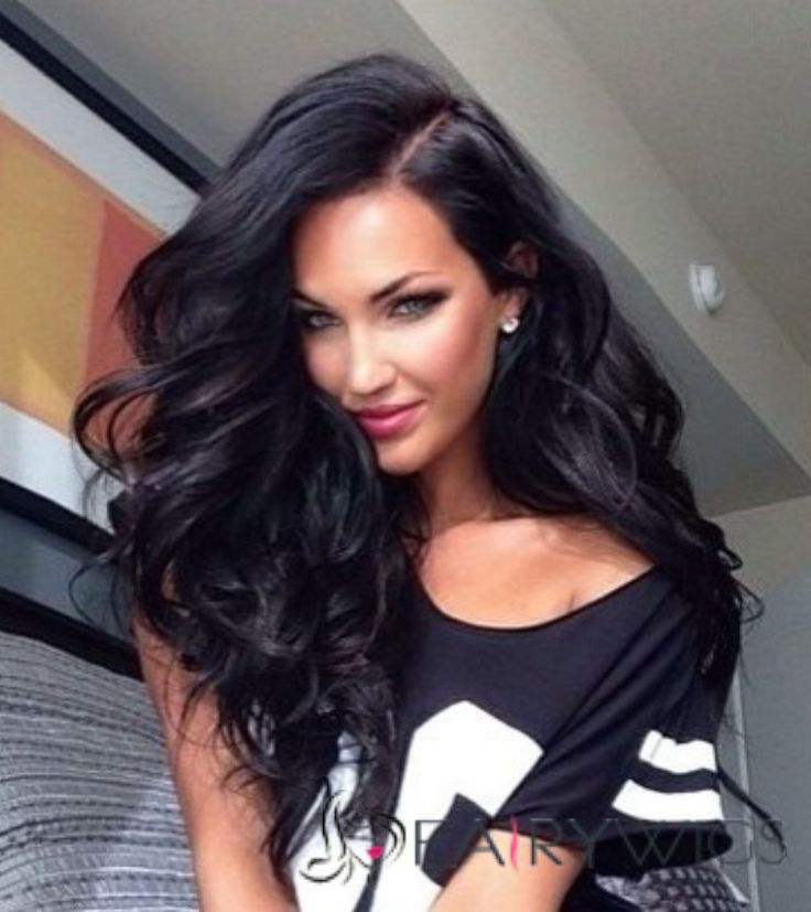 22 Inch Wavy Black Full Lace 100% Human Hair
