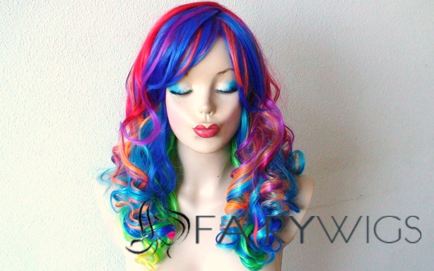 22 Inch Wavy Lace Front Colorful Top Quality High Heated