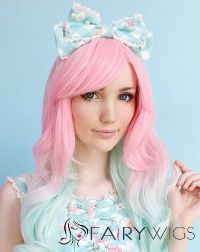 Cute Short Pink Ombre Wigs