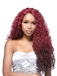 24 Inch Curly Lace Front Red Indian Remy Hair Ombre Wigs