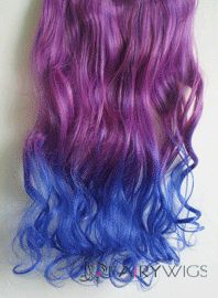 18 inches wavy deep purple to purplish blue synthetic ombre hair 18 inches wavy deep purple to purplish blue synthetic ombre hair extensions pmusecretfo Gallery