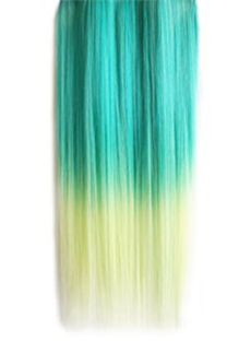 18 Inches Straight Blatic to Herb Green Synthetic Ombre Hair Extensions