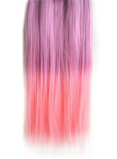 18 Inches Straight Light Pink to Light Magenta Synthetic Ombre Hair Extensions