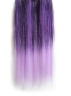 18 Inches Straight Deep Purple to Thistle Synthetic Ombre Hair Extensions