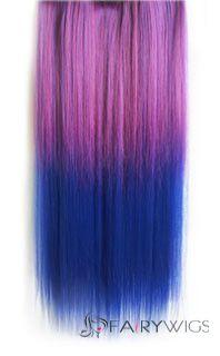 18 inches straight purplish red to purplish blue synthetic ombre 18 inches straight purplish red to purplish blue synthetic ombre hair extensions pmusecretfo Gallery