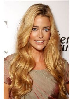 New 24 Inch Blonde Wavy Full Lace 100% Indian Remy Hair