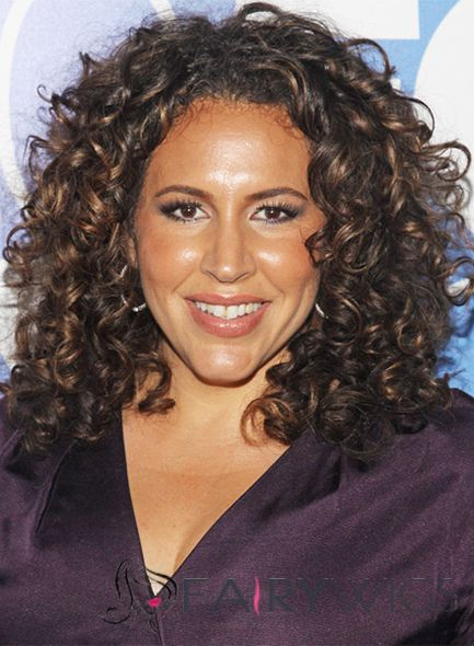 14 Inch Brown Curly Lace Front Indian Remy Hair African American Lace Wigs