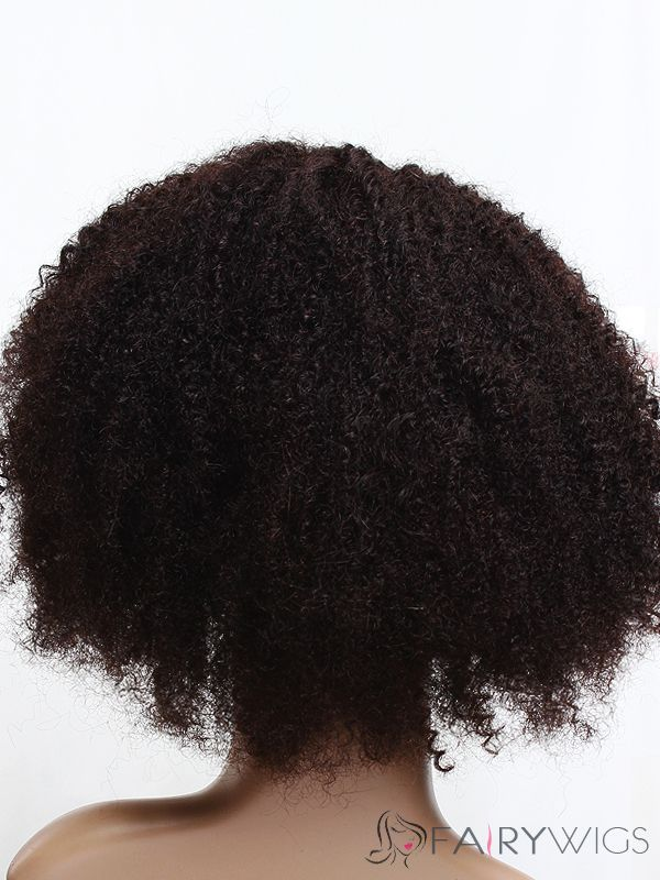 12 Inch Black Curly Full Lace 100% Indian Remy Hair